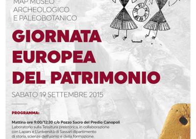 Giornata del Patrimonio europeo 19 settembre 2015