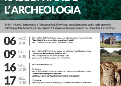 Locandina Raccontando l'archeologia 2018